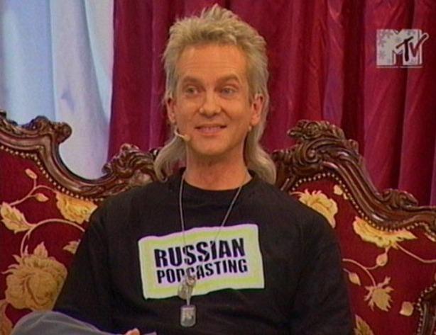 Василий Стрельников в эфире MTV.