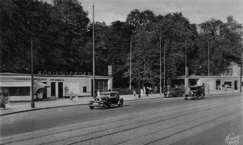 Tiergarten in Königsberg (Ostpreußen) mit Oldtimern - aus 1941