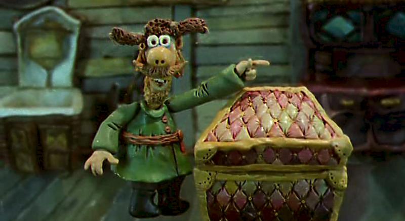 Кадр из пластилинового мультфильма