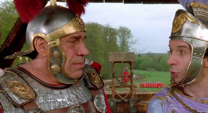 Римляне в шлемах и латах