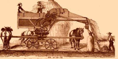Рисунок: старинный комбайн