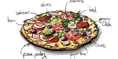 Рисунок пиццы