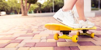 Ноги на скейте