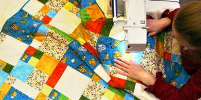 шитье одеяла