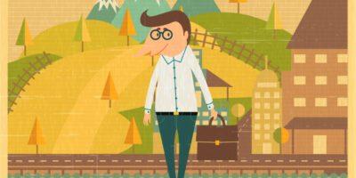 Рисунок: человек с портфелем
