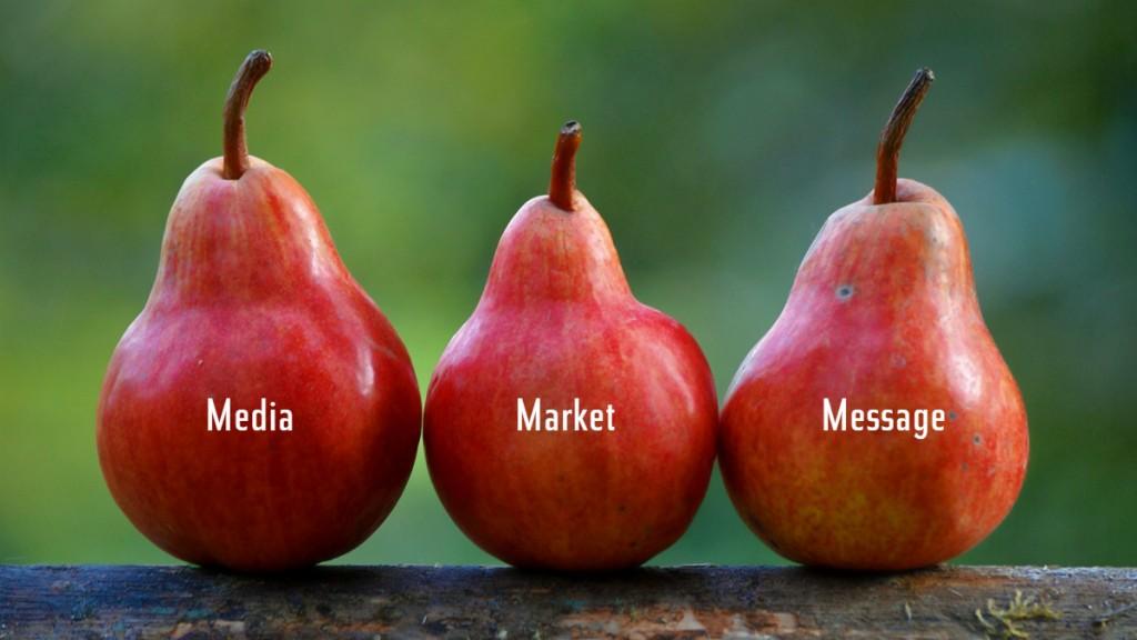 Три красных груши