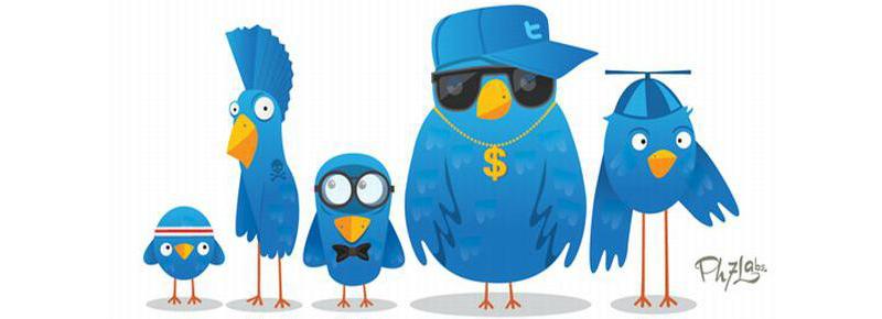 Пять синих птичек