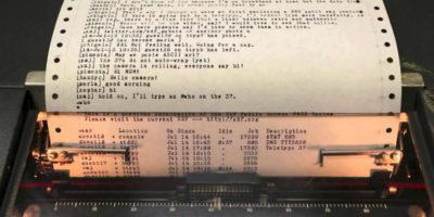 Текст в пишущей машинке