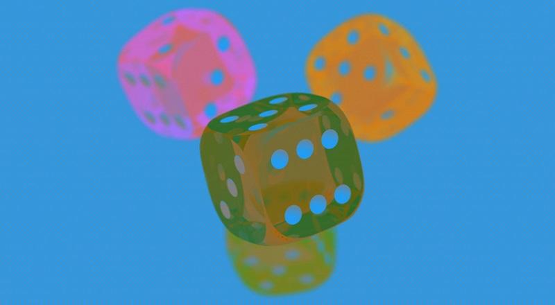 Три игральных кубика