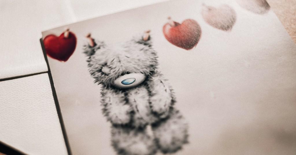 Открытка с мишкой Тедди