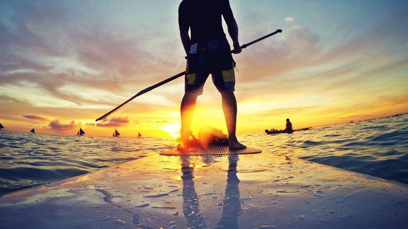 Человек с веслом